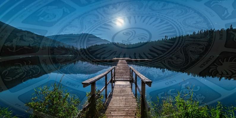 transitierender Mond in den Zeichen Widder bis Jungfrau, ASTRORBIS